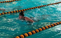 Lady Indian swim team take second at home meet, Flavin swims state consideration times